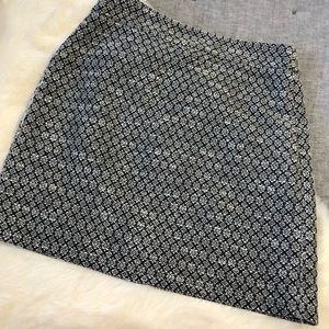 Loft outlet tweed patterned pencil skirt sz.6p